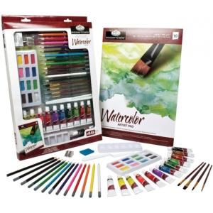 Royal & Langnickel® Essentials™ Deluxe Watercolor Mixed Media Art Set; Color: Multi; Format: Tube; Size: 12 ml; Type: Watercolor; (model RD855), price per set