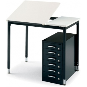 "Smith System Art Table: Adjustable 24""W x 24""D, Fixed 12""W x 24""D"
