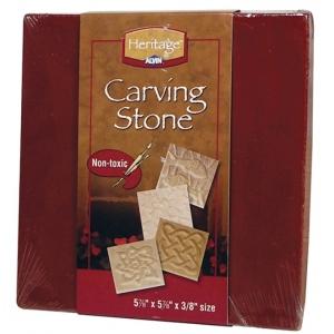Heritage Arts™ Terracotta Carving Tile; Color: Red/Pink; Format: Tile; (model HCS-T), price per each