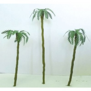 "Wee Scapes™ Architectural Model Assorted Palm Trees 1"" to 3"" 4-Pack; Color: Green; Material: Wire; Quantity: 4-Pack; Size: 1"" - 3""; Type: Tree; (model WS00359), price per 4-Pack"