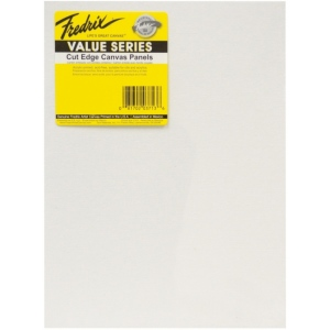 "Fredrix® Value Series Cut Edge 9"" x 12"" Canvas Panels 6-Pack; Color: White/Ivory; Format: Panel; Size: 9"" x 12""; Type: Acrylic; (model T3713), price per pack"