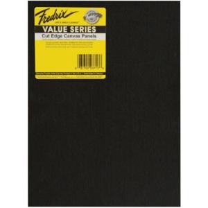 "Fredrix® Value Series Cut Edge 4"" x 6"" Canvas Panels 12-Pack: Black/Gray, Panel, 4"" x 6"", Acrylic, (model T37101), price per pack"