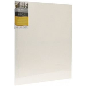"Fredrix® PRO Ultimate 16"" x 16"" Ultimate Cotton Stretched Canvas Gallerywrap Bar 1-3/8"": White/Ivory, Sheet, 1 3/8"", Cotton, 1 3/8"", 16"" x 16"", Stretched, (model T49705), price per each"