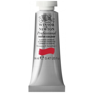 Winsor & Newton™ Artists' Watercolor 14ml Alizarin Crimson; Color: Red/Pink; Format: Tube; Size: 14 ml; Type: Watercolor; (model 0105004), price per tube