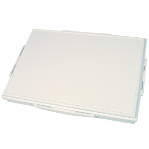"""Heritage Arts™ 21-Well Heavy-Duty Plastic Platform Palette: White/Ivory, Cover, Plastic, 21 Wells, Rectangle, 9 1/2"""" x 13 1/4"""", Tray, (model HPP913-21P), price per each"""