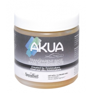Akua 8 oz. Light Amber Transparent Base: 8 oz, Printing, (model IITB), price per each