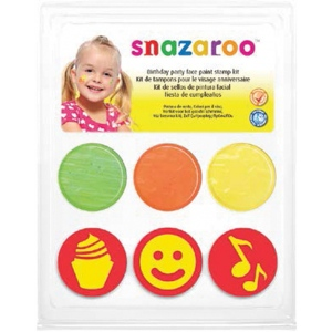 Snazaroo™ Birthday Face Paint Stamp Kit; Type: Stamp; (model 1185048), price per each