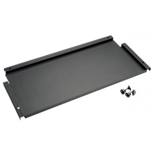 "Alvin® Onyx 9"" Deep Storage Shelf for Onyx Tables: Black/Gray, Steel, 9""l x 26 3/4""w, 9"", (model ONX-09), price per each"