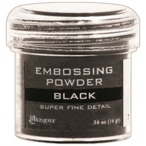 Ranger Basics Embossing Powders: Super Fine Black