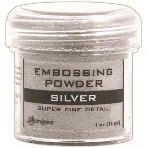 Ranger Basics Embossing Powders: Super Fine Silver