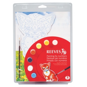 "Reeves™ Color & Shape Painting by Number Cat Set: Multi, 9 3/4"" x 13"", (model PBNCS2), price per set"