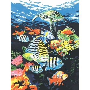 "Royal & Langnickel® Painting by Numbers™ 8 3/4 x 11 3/8 Junior Small Set Ocean Deep; Board Size: 8 3/4"" x 11 3/8""; (model PJS74), price per set"