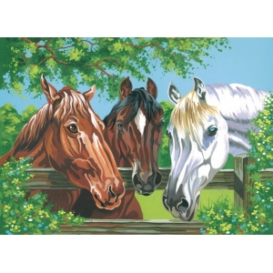 "Reeves™ Large Acrylic Painting By Numbers Set Horses: 12"" x 15 1/2"", (model PL102), price per each"