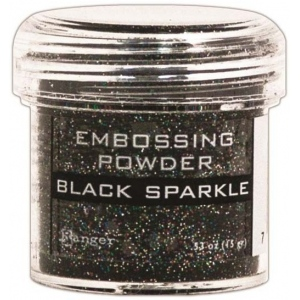 Ranger Specialty 1 Embossing Powders: Black Sparkle