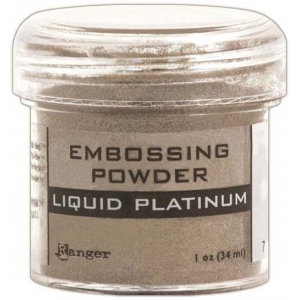 Ranger Specialty 1 Embossing Powders: Liquid Platinum