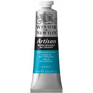 Winsor & Newton™ Artisan Water Mixable Oil Color 37ml Cerulean Blue Hue: Blue, Tube, 37 ml, Oil, (model 1514138), price per tube