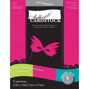 Core'Dinations Adhesive Cardstock: Carnival, 8.5 x 11