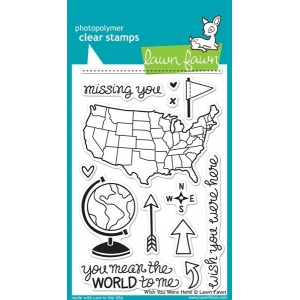 Lawn Fawn Wish You Were Here Stamp Set