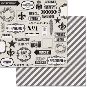 Teresa Collins Designs Urban Market Paper: Collage, 12 x 12