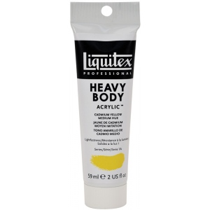Liquitex® Professional Series Heavy Body Color 2oz Cadmium Yellow Medium Hue; Color: Yellow; Format: Tube; Size: 59 ml; Type: Acrylic; (model 1045830), price per tube