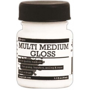 Ranger Multi Medium with Brush: Gloss, 1 oz.
