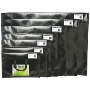 "Itoya® Art Profolio® Art Envelopes 17"" x 22""; Color: Black/Gray; Material: Polypropylene; Size: 17"" x 22""; (model NV1722BK), price per each"