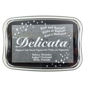 Tsukineko Delicata Full Size Pad: Silvery Shimmer