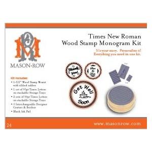 Mason Row Monogram Stamp Set with Wood Block