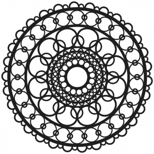 """The Crafter's Workshop 6"""" x 6"""" Journal and Design Template Ring Doily; Size: 6"""" x 6""""; Type: Patterned Stencil; (model TCW460S), price per each"""