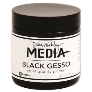Ranger Dina Wakley Media: Gesso Black, Jar, 4 oz