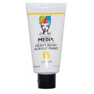 Ranger Dina Wakley Media Heavy Body Acrylic Paints: Lemon