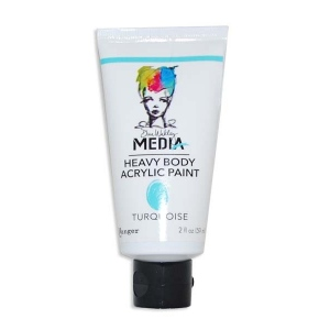 Ranger Dina Wakley Media Heavy Body Acrylic Paints: Turquoise