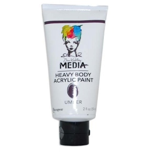 Ranger Dina Wakley Media Heavy Body Acrylic Paints: Umber