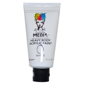 Ranger Dina Wakley Media: Heavy Body Acrylic Paints, White