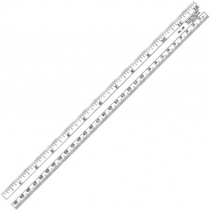 "Westcott® C-Thru® 12"" Co-Ed Plastic Ruler; Color: Clear; Material: Plastic; Size: 12""; Type: General Purpose; (model 36), price per each"
