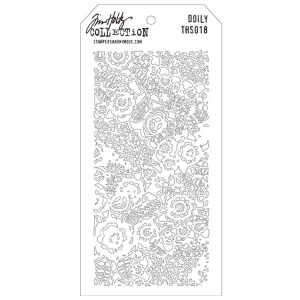Stampers Anonymous Tim Holtz Layering Stencil: Doily