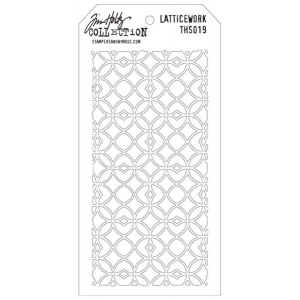 Stampers Anonymous Tim Holtz Layering Stencil: Latticework