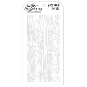 Stampers Anonymous Tim Holtz Layering Stencil: Woodgrain