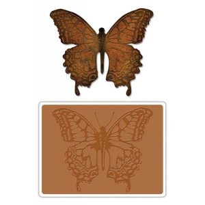 Sizzix Tim Holtz Alterations Bigz Die with Texture Fades: Layered Butterfly