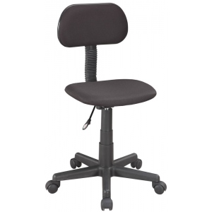 "Alvin® Office Height Economy Chair: No, Black/Gray, No, Under 24"", Fabric, (model CH212), price per each"
