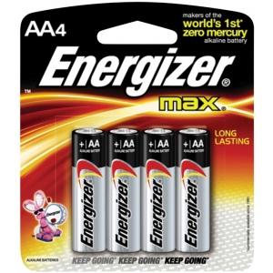 Energizer® MAX® MAX® AA Battery 4pk: Batteries, (model EBC91), price per pack