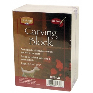 Heritage Arts™ Large White Carving Block; Color: White/Ivory; Format: Block; (model HCB-LW), price per each