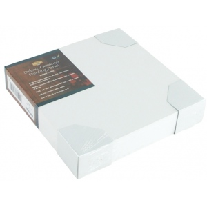 """Heritage Arts™ Deluxe Gessoed Painting Panel Gallery 8"""" x 8""""; Color: White/Ivory; Format: Panel; Material: Gesso; Size: 8"""" x 8""""; Type: Panel/Board; (model HGPPG0808), price per each"""