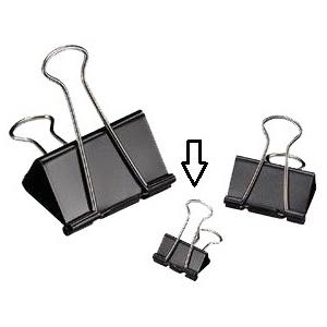 """Alvin® Binder Clips 3/4"""": Black/Gray, 3/4"""", (model 20107), price per box"""