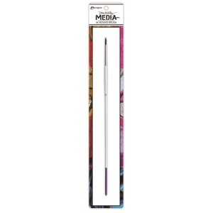 Ranger Dina Wakley Media Brushes: Stiff Bristle Paint Brush, #4 Round