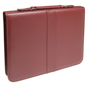 "Prestige™ Premier™ Burgundy Series Leather Presentation Case 11"" x 14""; Color: Red/Pink; Material: Leather; Size: 11"" x 14""; (model PCL1114-BU), price per each"
