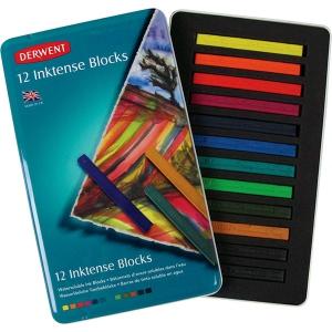 Derwent Inktense Inktense 12-Color Tin Set: Multi, Block, (model 2300442), price per set