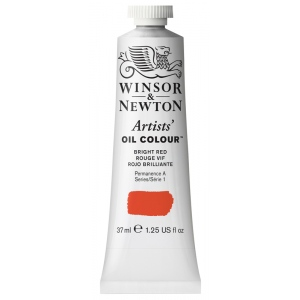 Winsor & Newton™ Artists' Oil Color 37ml Bright Red: Red/Pink, Tube, 37 ml, Oil, (model 1214042), price per tube