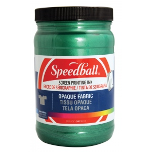 Speedball® Opaque Fabric Screen Printing Ink Emerald; Color: Green; Format: Jar; Ink Type: Fabric; Size: 32 oz; Type: Screen Printing; (model 4824), price per each