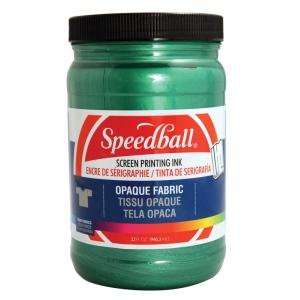 Speedball® Opaque Fabric Screen Printing Ink Emerald: Green, Jar, Fabric, 32 oz, Screen Printing, (model 4824), price per each